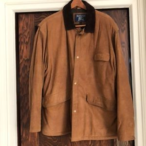 BURBERRY men's insulate lined suede jacket